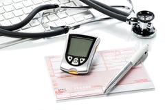 Glikoza przepis na lekarki biurku i metr obraz royalty free