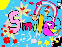 Glimlach! Stock Afbeelding