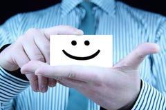 Glimlach - adreskaartje Royalty-vrije Stock Foto