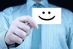 Glimlach - adreskaartje Royalty-vrije Stock Fotografie