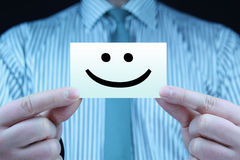 Glimlach - adreskaartje Stock Foto's
