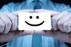 Glimlach - adreskaartje Stock Afbeeldingen