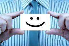 Glimlach - adreskaartje Stock Fotografie