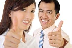 Glimlach businesspeople royalty-vrije stock foto's