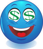 Glimlach. dollar. Geld. Stock Foto