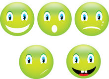 Glimlach emoticon Stock Afbeelding
