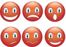 Glimlach emoticon Stock Foto