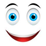 Glimlach emoticon teken Royalty-vrije Stock Foto's