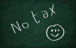 Glimlach en geen belasting Stock Afbeeldingen