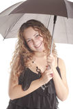 Glimlach en paraplu Stock Foto