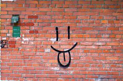 Glimlach Graffiti Royalty-vrije Stock Afbeelding