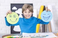 Glimlach of grijns? royalty-vrije stock afbeeldingen