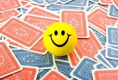 Glimlach in kaarten Royalty-vrije Stock Afbeeldingen