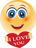 Glimlach, liefde, Valentijnskaart Stock Foto's