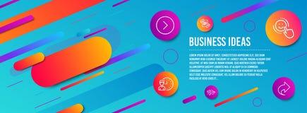 Glimlach, Marketing en Vliegtuig geplaatste pictogrammen Door:sturen, Werkuren en Aandeeltekens Het positief koppelt, Artikel ter stock illustratie