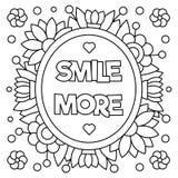 Glimlach meer Kleurende pagina Vector illustratie Stock Foto