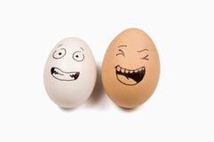 Glimlach op eieren Stock Foto's