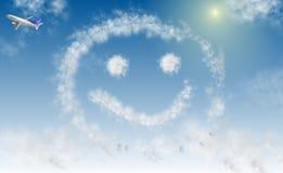 Glimlach op hemel royalty-vrije illustratie