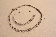 Glimlach op het strand royalty-vrije illustratie