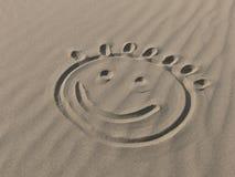 Glimlach op het zand Royalty-vrije Stock Afbeeldingen