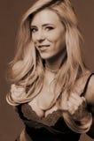 Glimlach op vrij blond royalty-vrije stock afbeelding