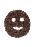 Glimlach van koffiebonen Royalty-vrije Stock Foto's