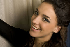 Glimlach van vrouw Stock Afbeelding