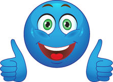 Glimlach. Vreugde. In orde. Stock Foto
