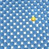 Glimlachenachtergrond Royalty-vrije Stock Foto's