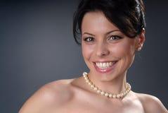 Glimlachend aantrekkingskrachtmeisje Royalty-vrije Stock Foto