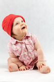 Glimlachend babymeisje Stock Foto's