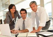 Glimlachend commercieel team royalty-vrije stock fotografie