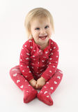 Glimlachend gelukkig babymeisje stock afbeelding