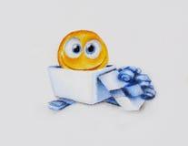 Glimlachend gift - illustratie Royalty-vrije Stock Afbeeldingen