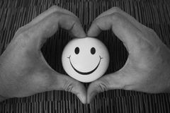 Glimlachend hart Royalty-vrije Stock Fotografie