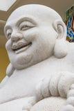 Glimlachend het Grote geïsoleerde Standbeeld van Boedha stock foto