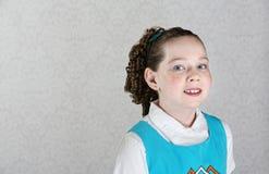 Glimlachend Iers Vrouwelijk Kind royalty-vrije stock afbeelding