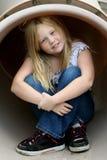 Glimlachend jong meisje Stock Foto