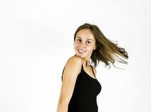 Glimlachend jong mooi meisje Stock Foto's