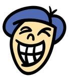 Glimlachend man hoofd Stock Afbeelding