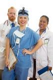 Glimlachend Medisch Team stock afbeeldingen