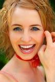 Glimlachend Meisje Stock Foto