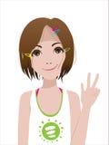Glimlachend meisje royalty-vrije illustratie