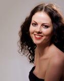 Glimlachend meisje met naakte sholders Stock Fotografie