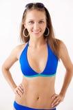 Glimlachend meisje in swimwear Stock Afbeelding