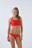 Glimlachend meisje in swimwear Royalty-vrije Stock Afbeeldingen