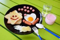 Glimlachend ontbijt Royalty-vrije Stock Afbeeldingen