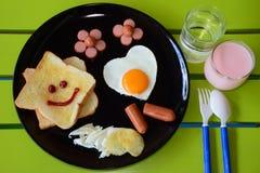 Glimlachend ontbijt Royalty-vrije Stock Foto's