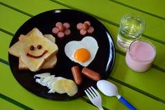 Glimlachend ontbijt Royalty-vrije Stock Afbeelding