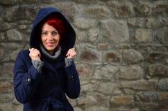 Glimlachend redhead meisje Royalty-vrije Stock Foto